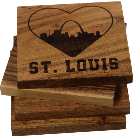 I Love St. Louis Missouri Skyline Coasters