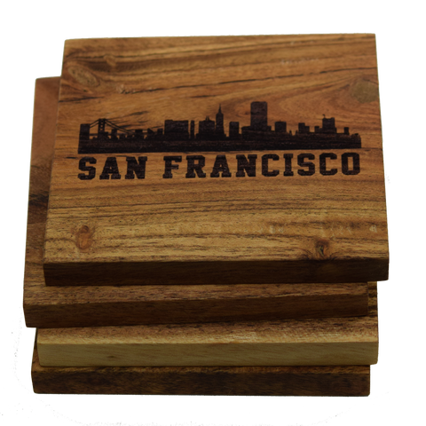 San Francisco California Skyline Coasters