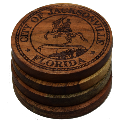 City Seal of Jacksonville, Florida Coasters