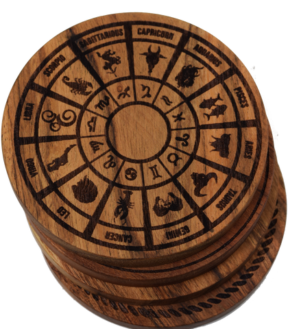 Zodiac Wheel Coasters