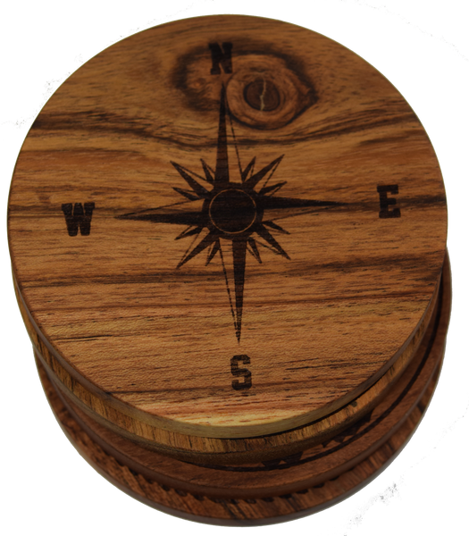 Compass Rose Version 1 (Nautical) Coasters