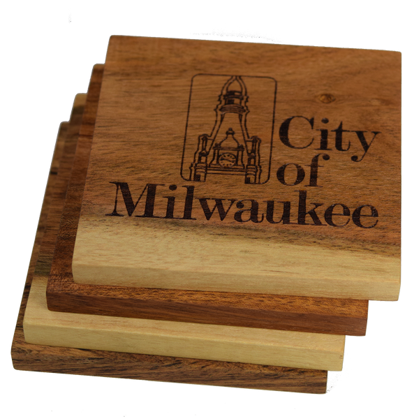 City Seal of Milwaukee, Wisconsin Coasters
