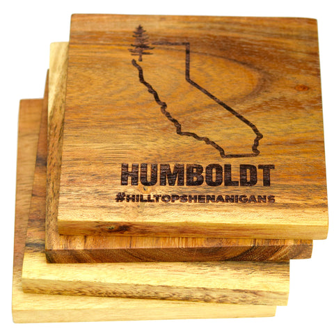 California Outline Humboldt Coasters