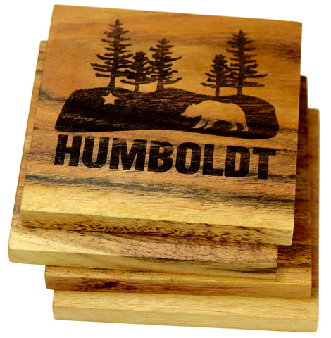 State Flag within Humboldt California Redwood Coasters
