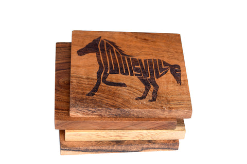 Louisville Kentucky Horse Coaster Set