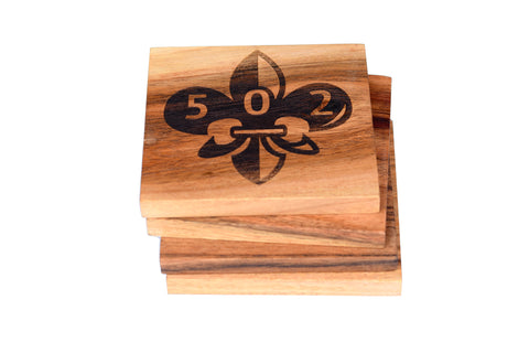 502 Fleur De Lis Coaster Set Louisville, Kentucky
