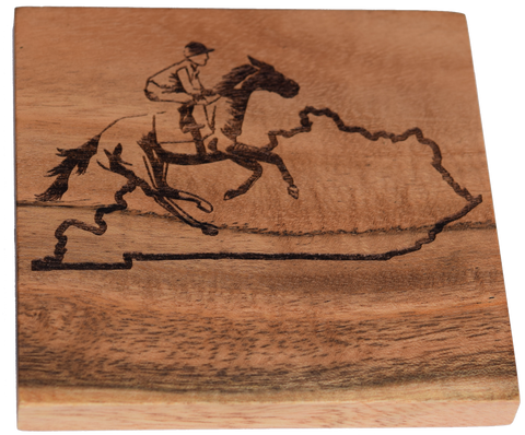 Kentucky Outline with Race Horse Coaster Set