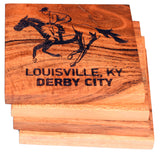 Louisville Kentucky Derby City Race Horse Coaster Set