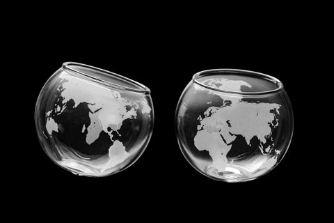 Spinning Globe Whiskey Glass (Set of Two)