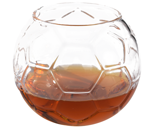 Soccer Ball Shaped Whiskey Glass (Set of Two)