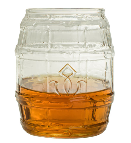 Barrel Shaped Whiskey Glass - Set of Two