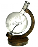 Etched Glass Globe Decanter with Plane Inside - 1000ml (P51 Mustang)