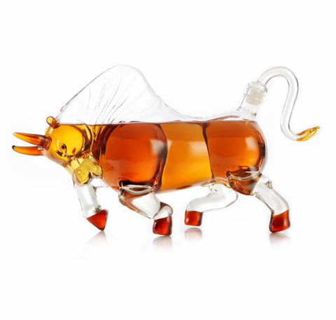 Charging Bull Shaped Decanter - Holds 1000ml