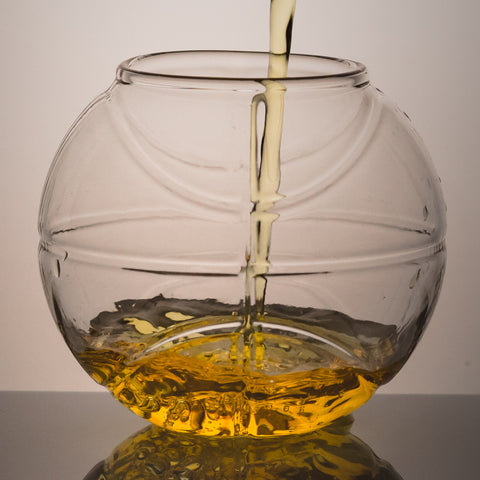 Basketball Shaped Whiskey Glass (Set of Two)