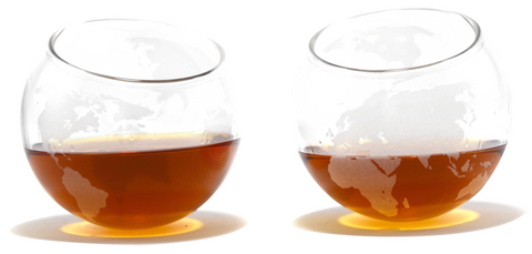 A Spinning Globe Whiskey Glass (Set of Two)