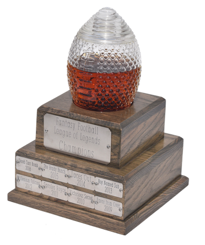 Perpetual Fantasy Football Trophy Decanter - Pass Along League Champion Trophy (Expected Delivery in February)