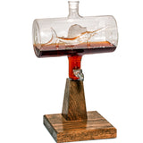 2500ml Whiskey Decanter with Glass Sailfish Inside - Raconteur Decanter (Backorder 1-2 Months)