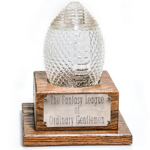 Personal Fantasy Football Trophy Decanter - League Champion Trophy  (3 Weeks for Delivery)