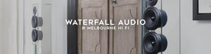 Waterfall audio speakers at Melbourne Hi FI, Australia