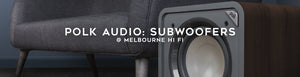Shop polk audio subwoofers at Melbourne Hi Fi, Australia