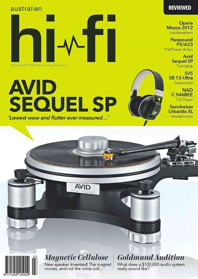 AVID Sequel SP Features in Australian HiFi Magazine