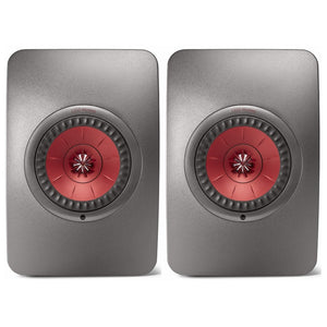 KEF | LS50 Wireless Speakers Titanium Open Box | Melbourne Hi Fi1