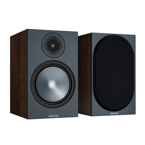 Monitor Audio | Bronze 100 Bookshelf Speakers Walnut Open Box | Melbourne Hi Fi1