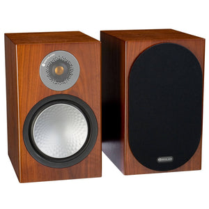 Monitor Audio | Silver 100 Bookshelf Speakers Walnut Open Box | Melbourne Hi Fi1