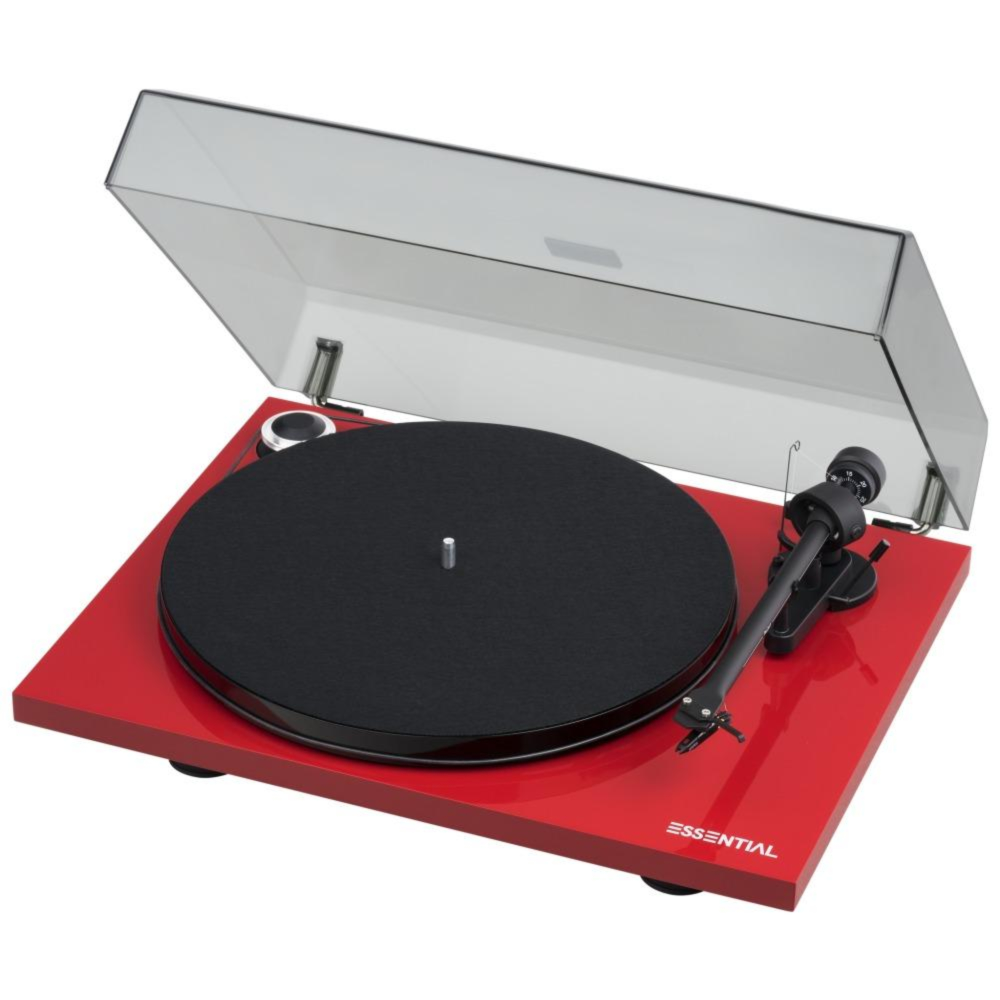 Pro-Ject |Essential III Turntable with OM10 Cartridge Red Open Box|Melbourne Hi Fi1