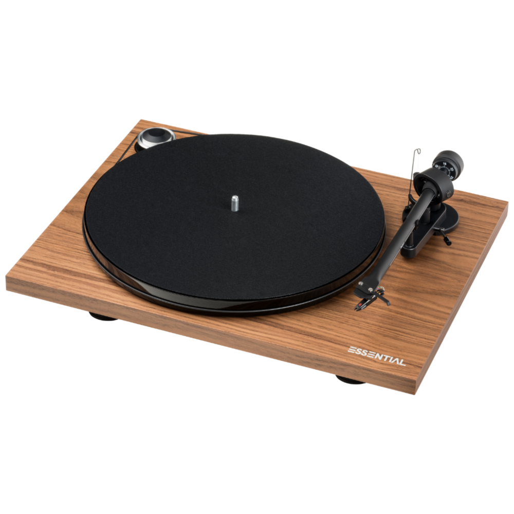 Pro-Ject |Essential III Turntable with OM10 Cartridge Walnut Open Box|Melbourne Hi Fi