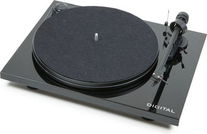 Pro-Ject Essential II Digital Turntable Black with Ortofon OM5e Cartridge - Melbourne Hi Fi