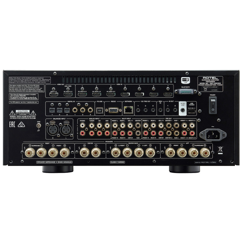 Rotel | Rotel RAP-1580MKII Amplifier Processor | Melbourne Hi Fi1