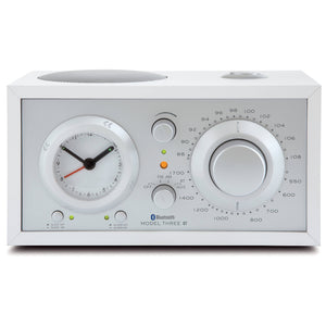 Tivoli Audio |Model Three Bluetooth AM/FM Clock Radio White/Silver Open Box|Melbourne Hi Fi1