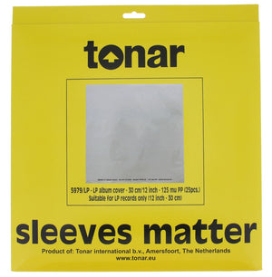 Tonar Plastipap Record Sleeves 25 Pieces - Melbourne Hi Fi