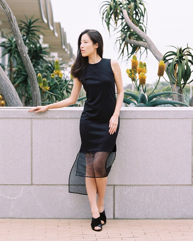 Trumpet Dress in Black