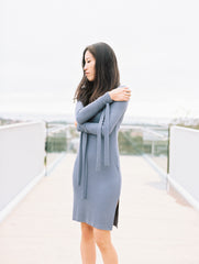 Tied Sleeve Dress in Periwinkle