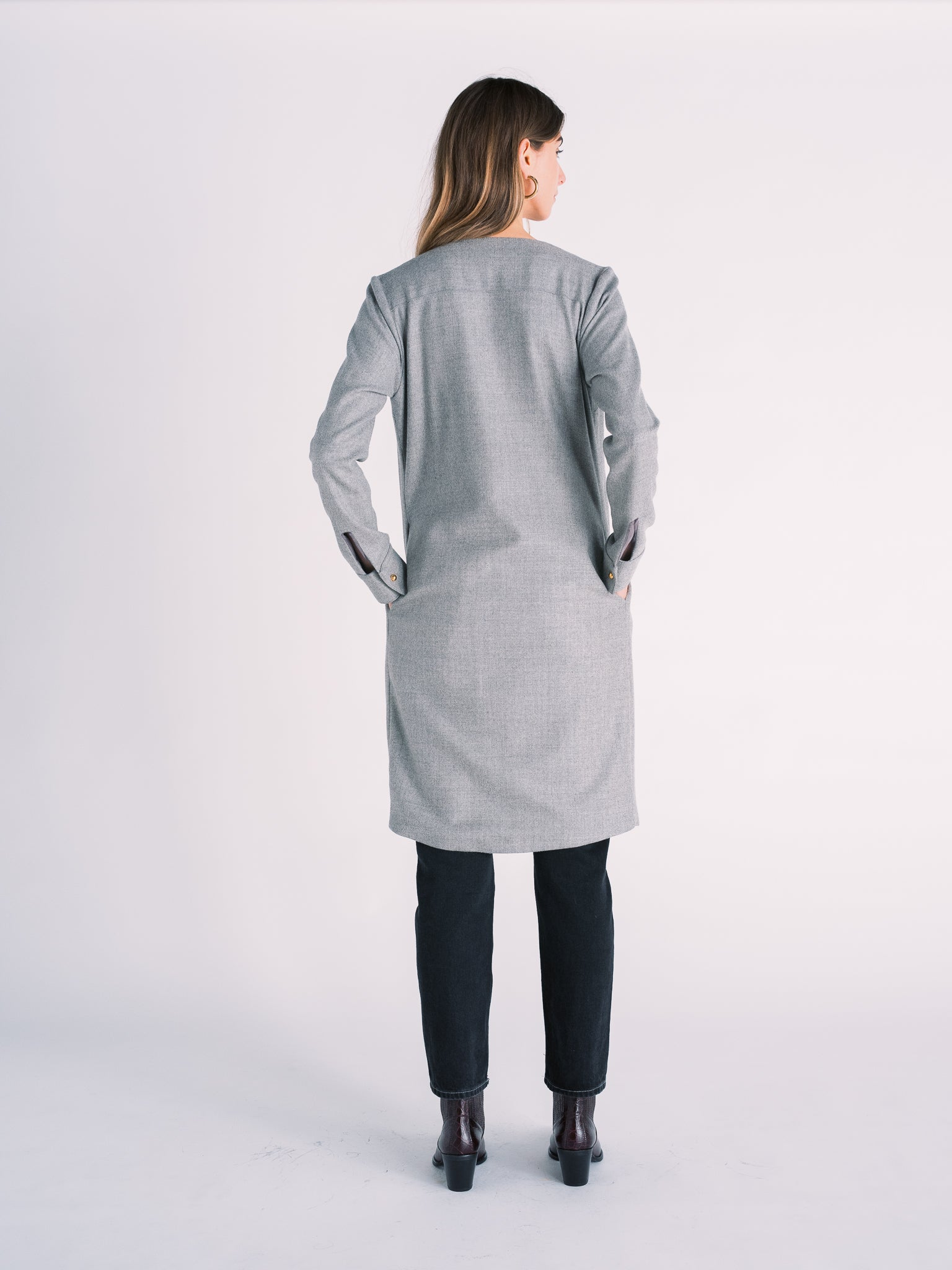 Vigor Coat in Heather Gray Wool