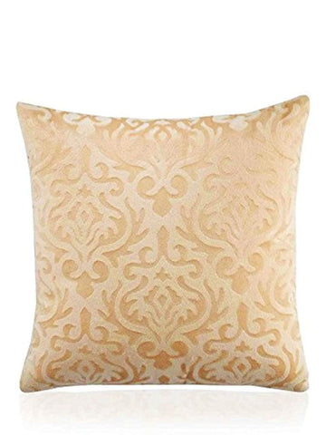 Set of 5 Home Beige Velvet Cushion Covers 12x12 inch Small
