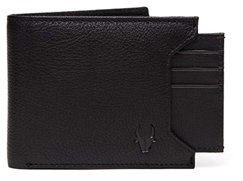 Men Black Genuine Leather Wallet Gift Set Combo