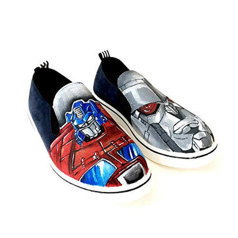 Boys Shoes Hand Painted Water Proof Designed Shoe Men Comfortable Washable Casual Slip-On Footwear