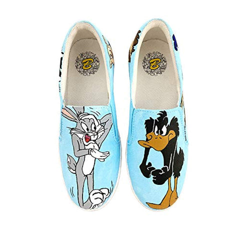 Badhuche Women Shoes Customised Hand Painted Water Proof Cartoon Shoe Girls Comfortable Washable Casual Slip-On Footwear