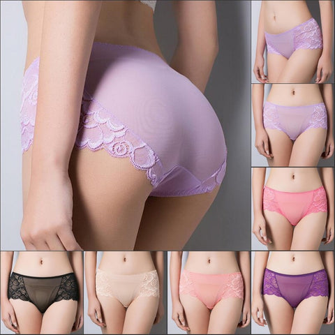 Women's Panties Full Transparent Lace Seamless String Plus Size Sexy Underwear Panties Women Underwear Briefs Sexy