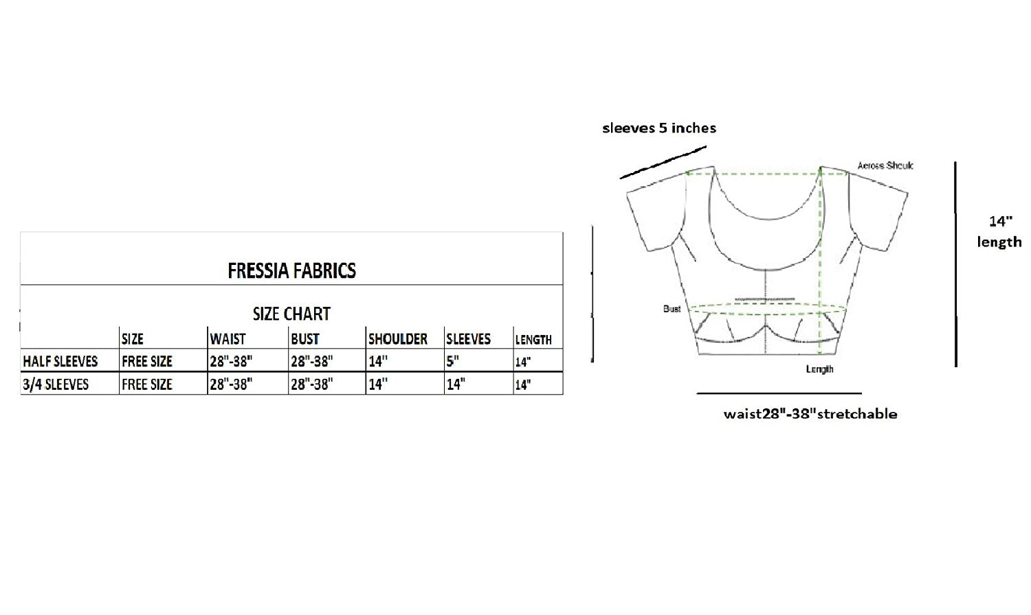 6997c7d21687a Fressia Fabrics Readymade free Size saree blouse for women party wear – JKK  Mart