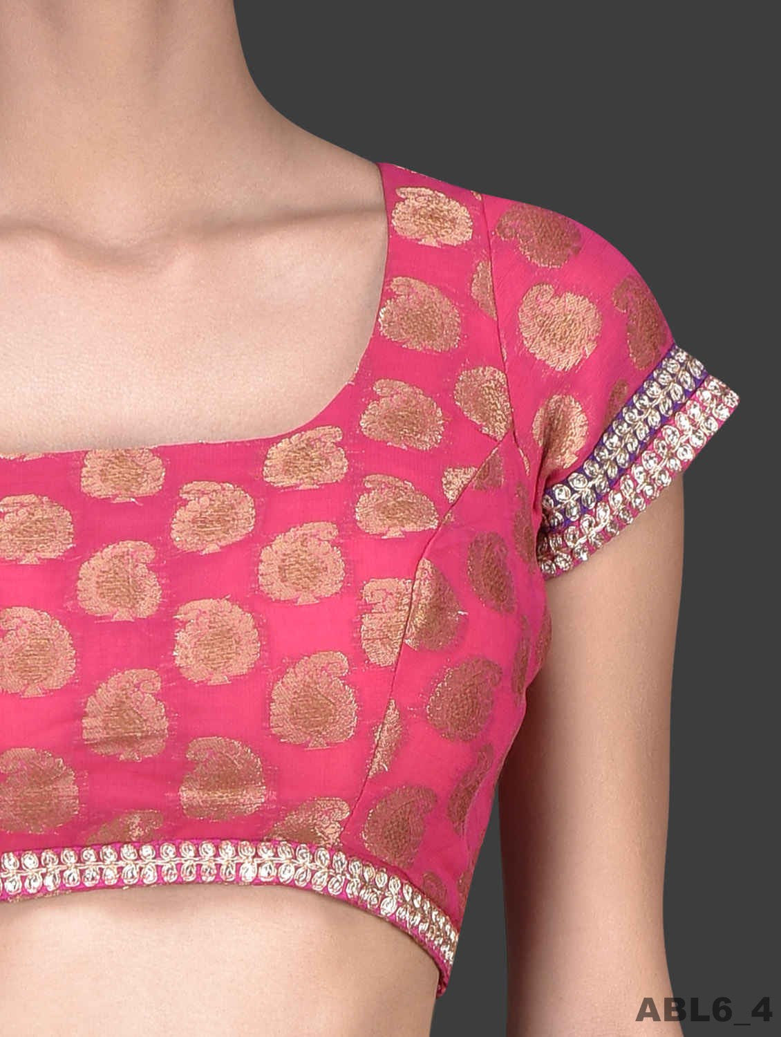 JKK Mart Hand Stitched Wedding Hot Pink Blouse Bridal Saree Matching ABL6 - JKK Mart