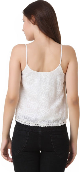 JKK Mart White Sleeveless Crop Top - JKK Mart