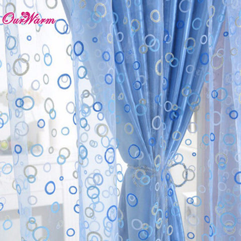 Curtain for Living Room Circle Tulle Sheer Curtain Voile Window Curtains Drapes ,  - JKK Mart, JKK Mart - 1