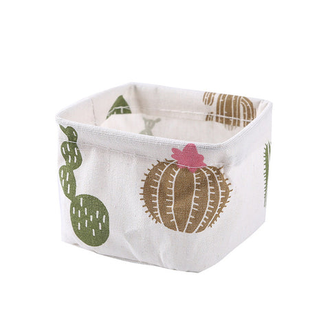 1pcs Fabric Desktop Storage Basket Sundries Container Makeup Organizer Case Stationery Storage Box Laundry