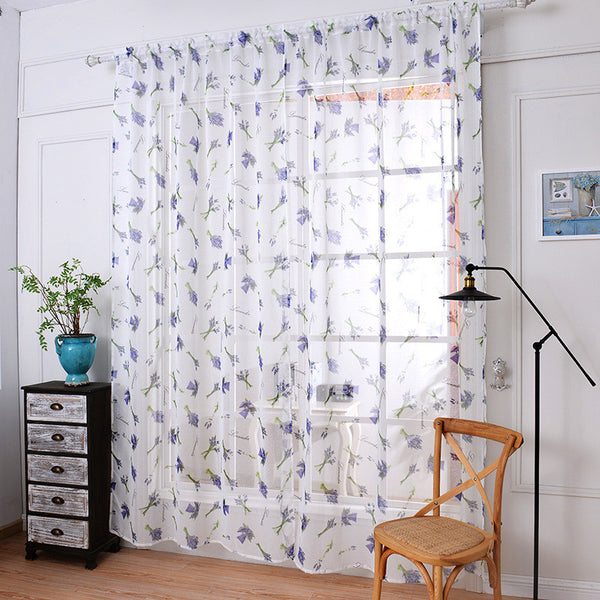 soft fabric sheer tulle curtains for bedroom Violet Lavender window Curtains for Living Room kitchen curtains tulles sheers ,  - JKK Mart, JKK Mart