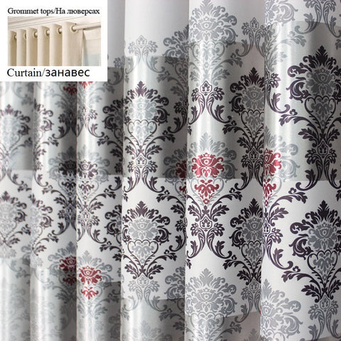1 pc 2016 New Curtains for Windows Drapes European Modern elegant noble printing Curtain / W100cmxL250cm / Hook,  - JKK Mart, JKK Mart - 2