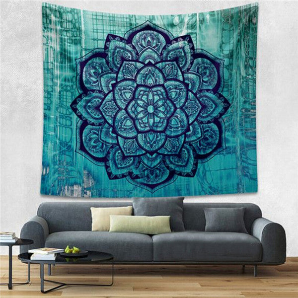 Elephant Tapestry Colored Printed Decorative Mandala Tapestry Indian Beach Blanket 130cmx150cm 153cmx203cm Boho Wall Carpet Color 12 / 203cmx153cm,  - JKK Mart, JKK Mart - 7